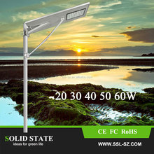30W top quality hot sale integrated all in one solar led street light solar cattail bulrush garden lights