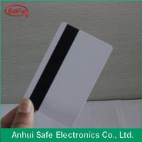 Custom design matt finish 2015 new plastic card with hico magnetic stripe on pvc business card back side