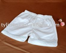 100% cotton white color boy's pant