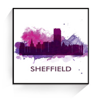 JC Fashion United Kingdom Sheffield City Landscape Living Room Home Decoration Canvas Oil Painting LAN-117