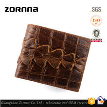 Authentic Import High quality Hand Crafted Good Brands Manufactures German Men Crocodile Genuine Cowhide Leather Wallet