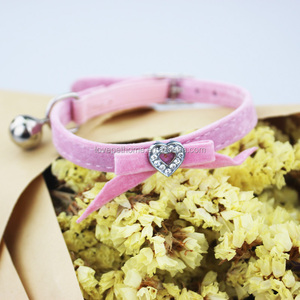 Best Selling Products Pet Accessories Pink Bow Collar Small Bell Perro Dog Collar Necklace