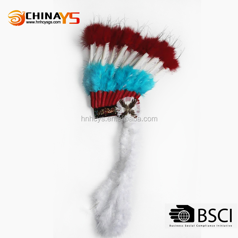 Prime quality supplier Manufacture Indian turkey festival feather headband