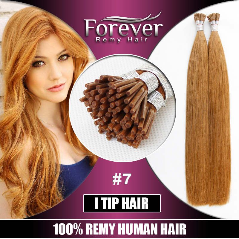 Italian Glue Keratin Fusion Stick Tip Pre bonded Remy I Tip Hair Extensions