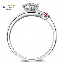 SSD043 High Q 925 Sterling Silver Female Crystal Diamond Ring
