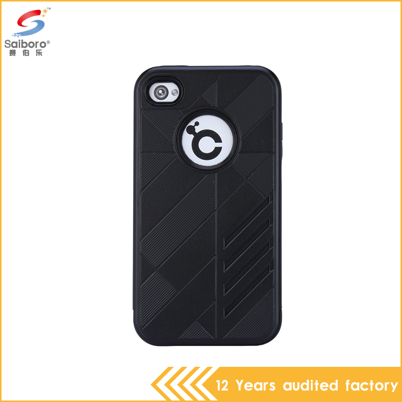 Universal wholesale cell phone case with tpu and pc for iphone 4/4s