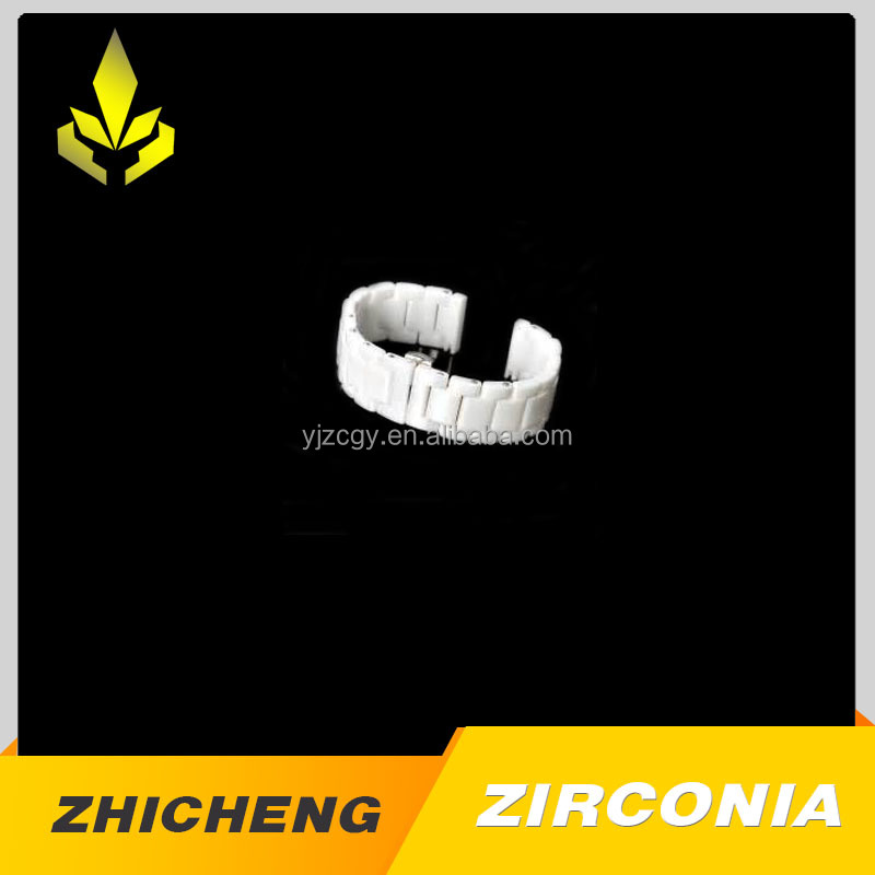 Black or whiter zirconia replacement ceramic watch band with ZC