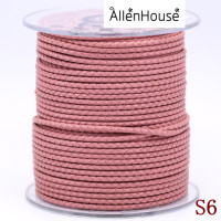 machine weaving multi color 2.5mm slim natural leather cord ,wattled pink leather cord for bulk wholesale