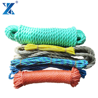 Floating on water 3-strand ship used pp mooring ropes for sale