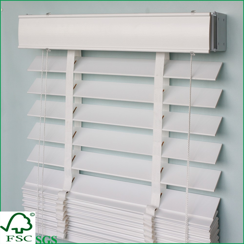 25/35/50mm UV coated printing wooden venetian blinds for window decoration