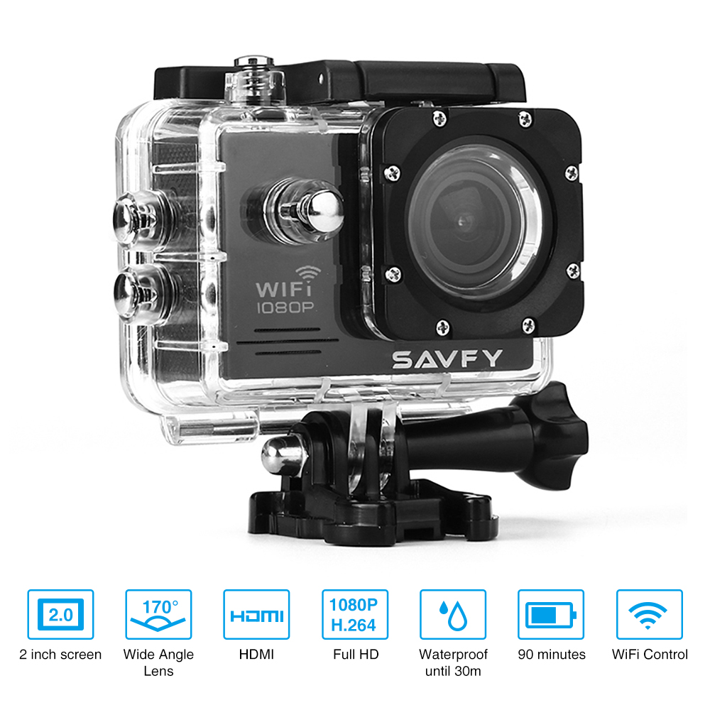 SAVFY SJ6000 Waterproof Sport Camera With 2.0