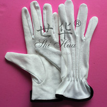 white cotton pam dotted parade glove