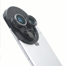 New arrival mobile phone camera lens universal rotary 198 degree fish eyes 0.63x wide-angle macro polarizer
