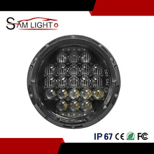 7inch 5D 75W Replacement Projector LED Headlight with White DRL Angel Eyes Jeep Wrangler JK TJ Hummer H1 H2 Patrol Y60