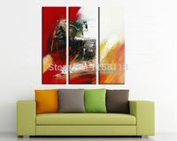 3 Panel brief painting decorative art set modern wall art abstract hand painted Canvas Oil Painting