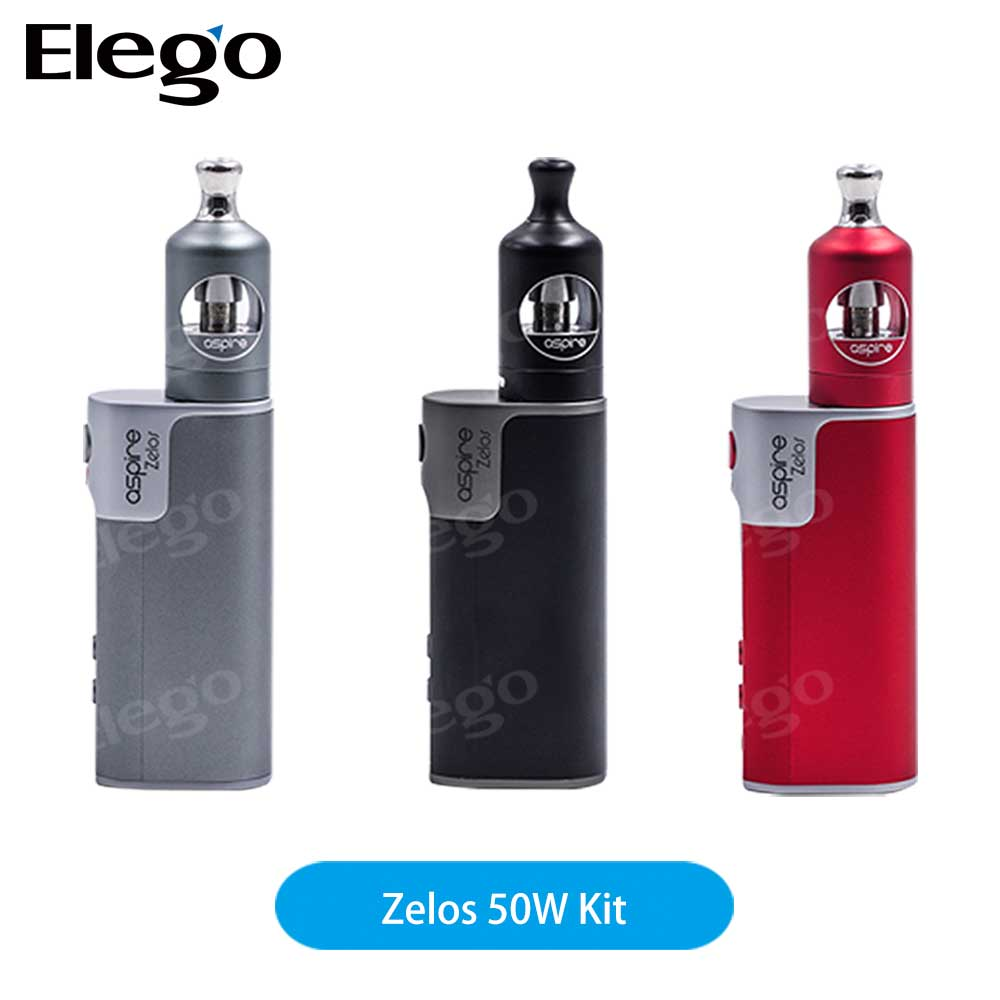 Elego Authentic Aspire Zelos 50W 2500mAh VV VW TC APV Mod Kit Zelos Mod 50w in Stock