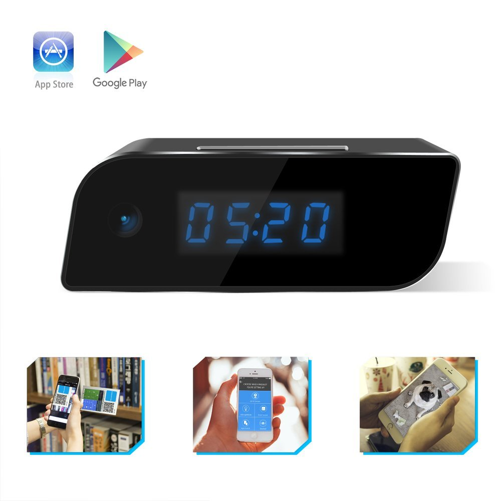 Korea Fashion Table Clock Hidden Camera 1080P HD Wireless Spy Network Camera Smart Alarm Clock WiFi Fluent Video Recorder