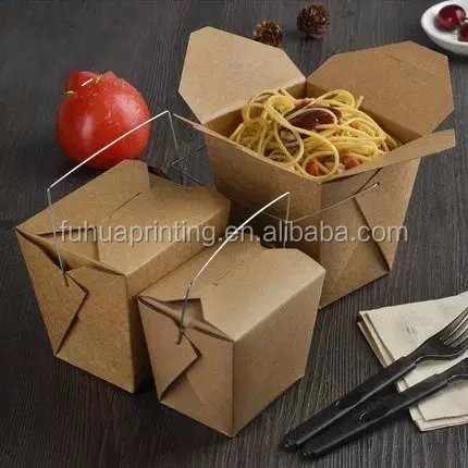 Takeaway Hot Food packaging Box Chinese Noodles Rice Food paper box