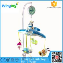 Battery Operated plush baby crib hanging mobile toy baby musical mobile