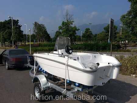 SD430 fibergalss small sport fishing boat 4.3m for 6 persons