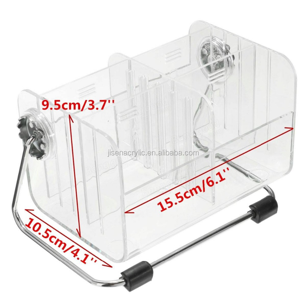 Acrylic Clear Rotation Box TV Remote Control Phone Pen Storage Box Stand Holder