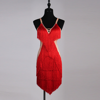 Hot Selling Cheap Tassels Red Ballroom And Dance Dress Latin - Buy ...
