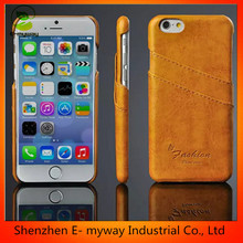 Eco-friendly cell phone case for iphone 6 leather mobile cell phone case