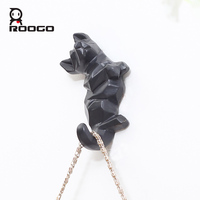 ROOGO Decorative Resin Dog Shape Clothes Hook Coat Hat Outdoor Towel Hanger Hooks