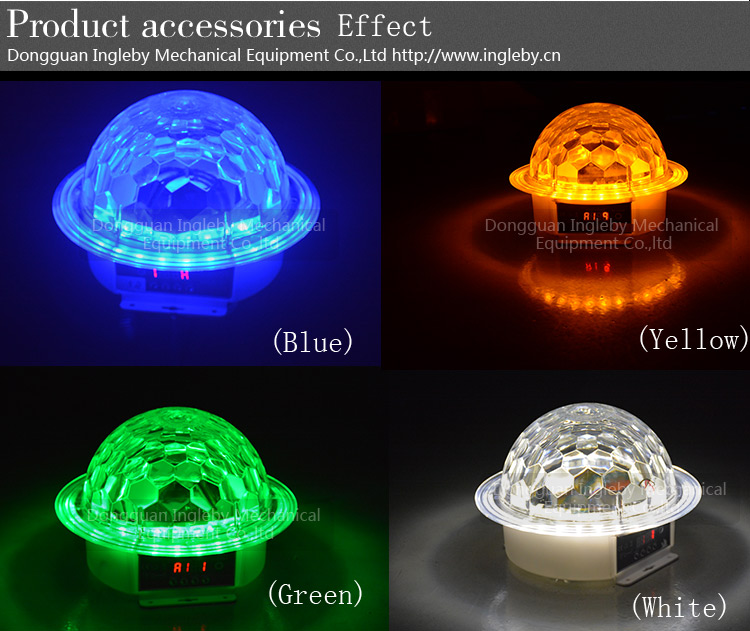 2017 twinkling saloon necessary plastic shell 26w christmas effect 9 colors led ball light