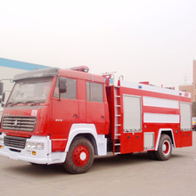 Brand New HOWO 4X2 Emergency Fire Rescue Trucks with Water and Foam Tank for Myanmar