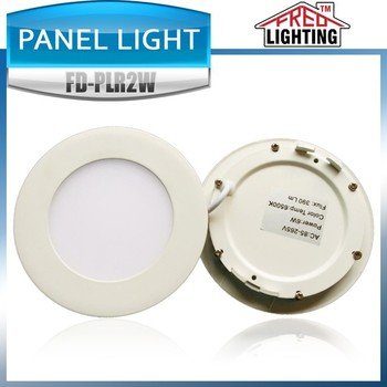 High brightness 6W 110mm round led panel light with CE ROHS