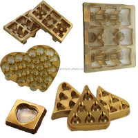 tray type and plastic material 6 cavity CPET chocolate serving tray