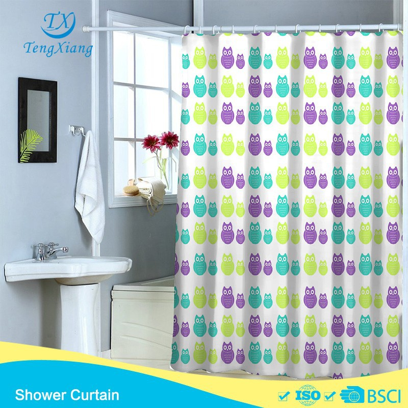 Owl kids baby style printing Polyester Shower Curtain