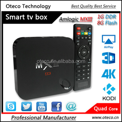 Sale! Smart tv box Android Amlogic S802 MXIII Android tv box Quad Core with 2G Ram 8G Rom