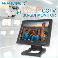 "12.1"" resistive touch screen complete cctv system lcd monitor with av input for media operations"