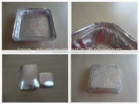 Rectangular Disposable Pollution-free Cheap Aluminium 8011 Decorative Pet Food Containers