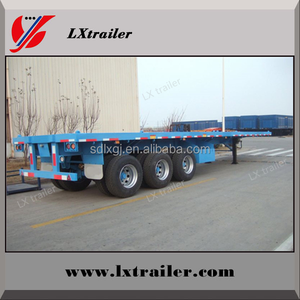 Cheap 3 axle 40ft or 20ft used trailer container flatbed truck trailer and semi trailer container for sale