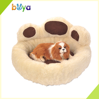 Wholesale paw shape soft fabric round luxury dog bed