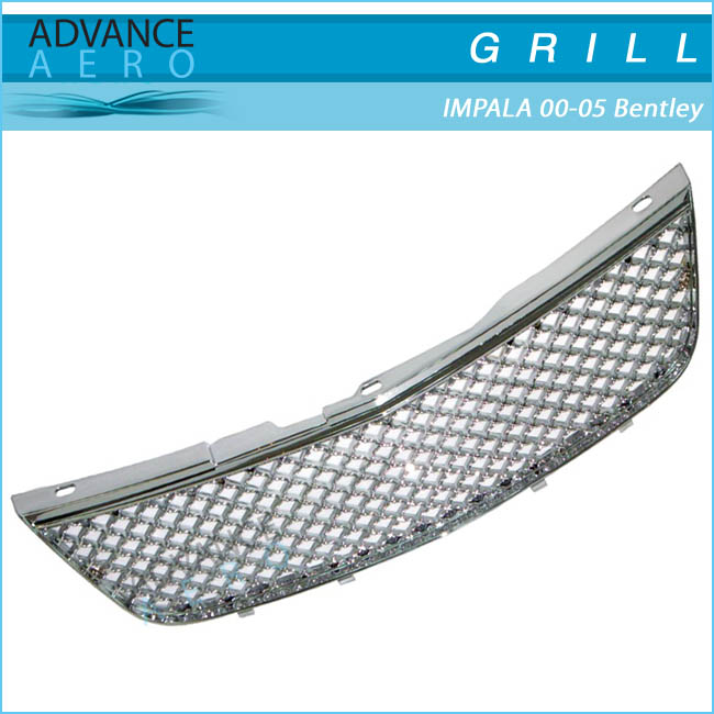 FOR 2000-2005 CHEVROLET IMPALA Z GRILLE CHROMED BENTLEY STYLE
