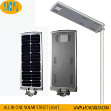 Manufacture 20W Aluminum Housing All in One LED Solar Street Light Cost