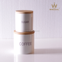 350ml Ceramic jar with wooden lid
