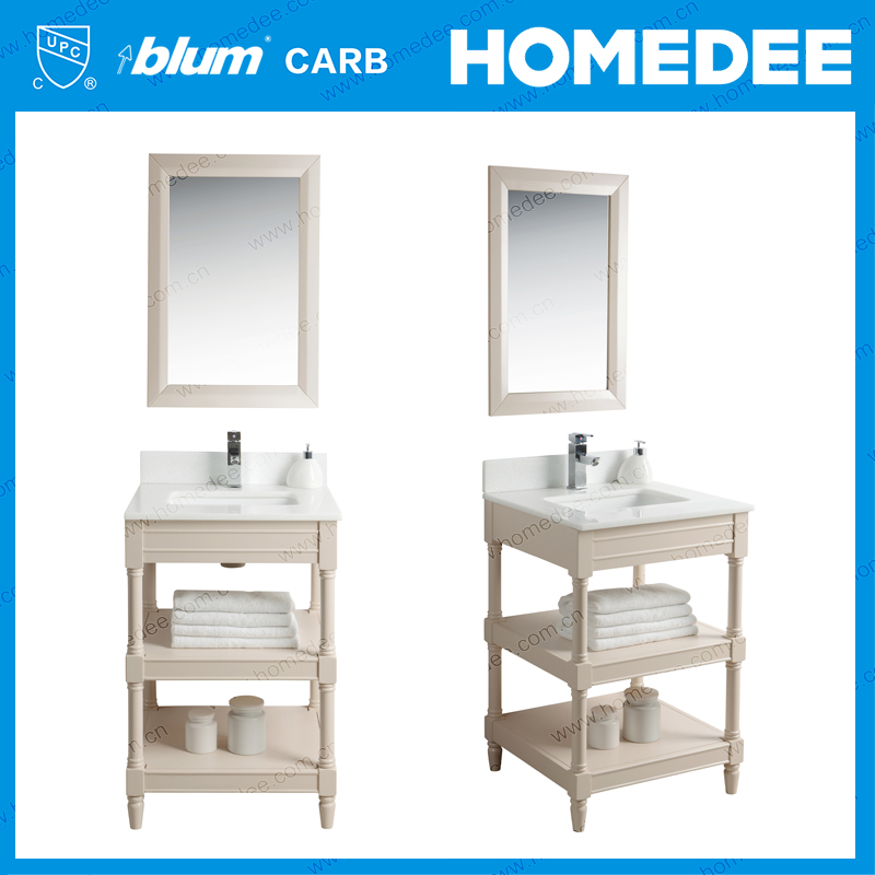 Homedee 24 inch modern furniture bathroom vanity with wood leg