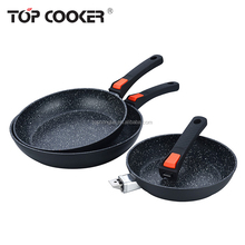Forged aluminum removable handle frying pan