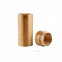 Men and Woman Rouind Gift Box Bamboo Cinlinder Sunglass Box