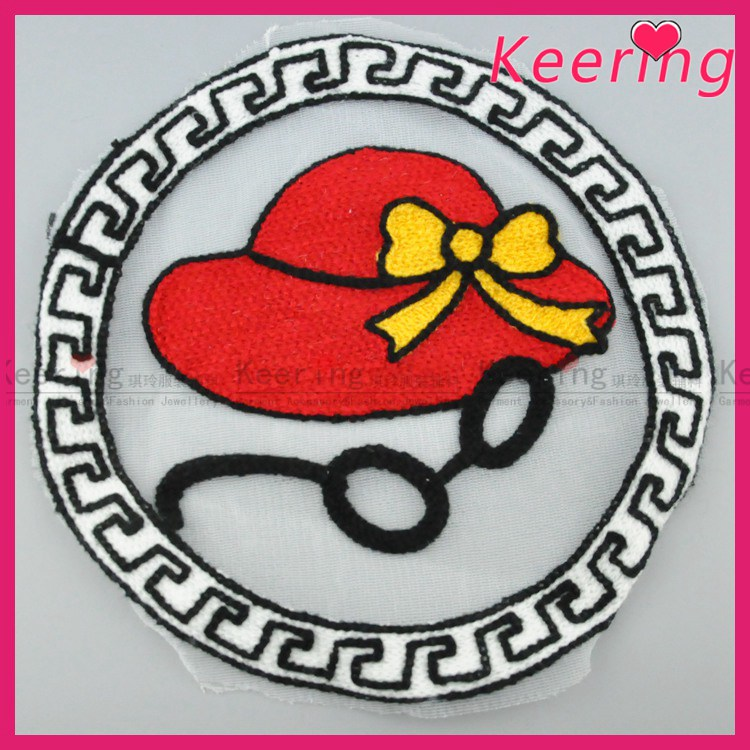 Hot red ladies cap fashion embroidery designs patches