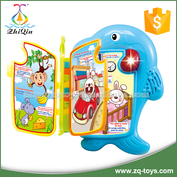 Zhiqin toys funny electronic learning toy story book for kids