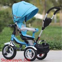 360 degree roated seat kids metal tricycle/children baby trikes for sale