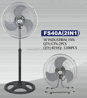 220V 40W 16inch Portable Energy Saving Industrial Pedestal Fan 2 In 1 Type Floor Fan With Competitive Price