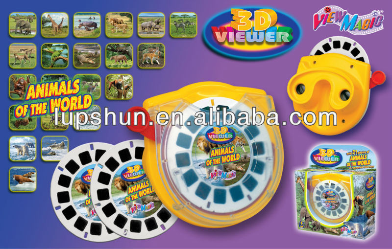 Plastic Film Disc 3D Sterescopic Toy Viewer