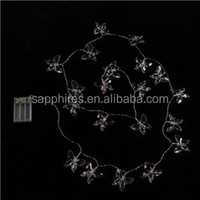 Christmas wedding party decoration indoor and outdoor solar battery plastic butterfly led fairy string light